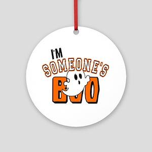 Im Someones Boo Ghost Halloween Ornament (Round)