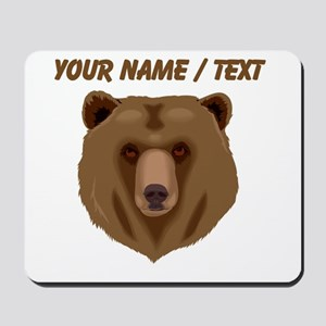 Custom Brown Grizzly Bear Mousepad