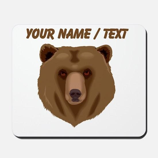 Custom Brown Grizzly Bear Mousepad