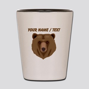 Custom Brown Grizzly Bear Shot Glass