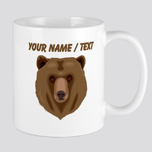 Custom Brown Grizzly Bear Mugs