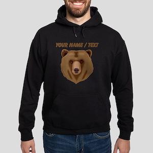 Custom Brown Grizzly Bear Hoodie