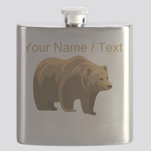 Custom Brown Bear Flask