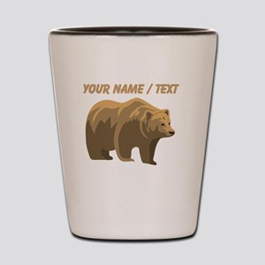 Custom Brown Bear Shot Glass