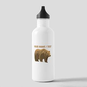 Custom Brown Bear Water Bottle