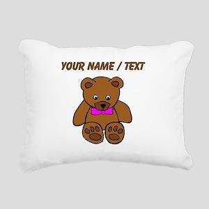 Custom Teddy Bear Pink Bowtie Rectangular Canvas P