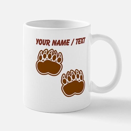 Custom Bear Paw Prints Mugs