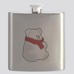 Custom Teddy Polar Bear Flask