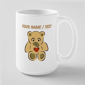 Custom Teddy Bear With Heart Mugs