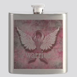 Pink Ribbon Warrior By Vetro Designs Flask