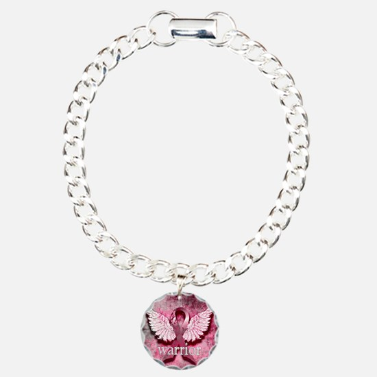 Pink Ribbon Warrior By V Bracelet