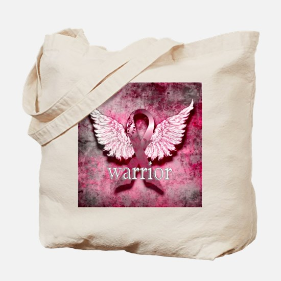 Pink Ribbon Warrior By Vetro Designs Tote Bag