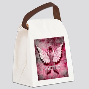 Pink Ribbon Warrior By Vetro Desi Canvas Lunch Bag