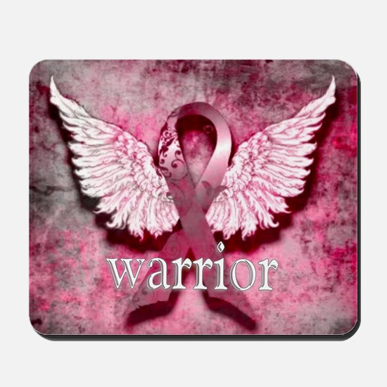 Pink Ribbon Warrior By Vetro Designs Mousepad