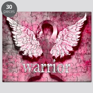 Pink Ribbon Warrior By Vetro Designs Puzzle