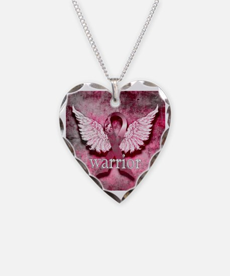 Pink Ribbon Warrior By Vetro  Necklace
