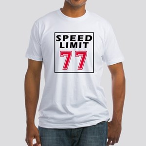 Speed Limit 77 Fitted T-Shirt