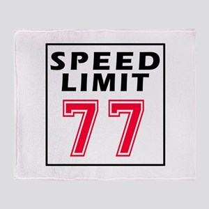 Speed Limit 77 Throw Blanket