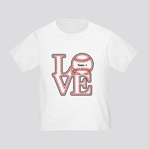 Personalized Front and Back Love Baseball Toddler