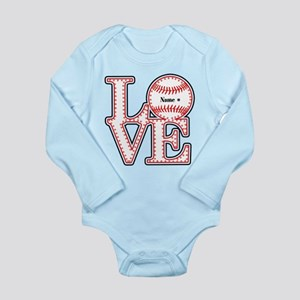 Personalized Front and Back Love Baseball Long Sle
