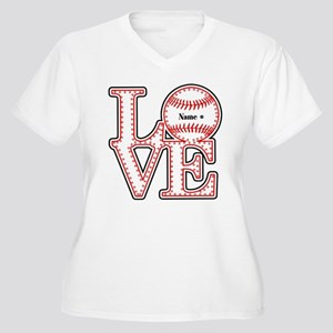 Personalized Front and Back Love Baseball Women's