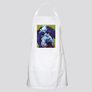 Blue and Lime Wire Haired Griffon  Apron