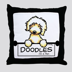 Labradoodle Fan Throw Pillow