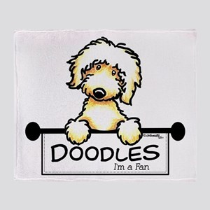 Labradoodle Fan Throw Blanket