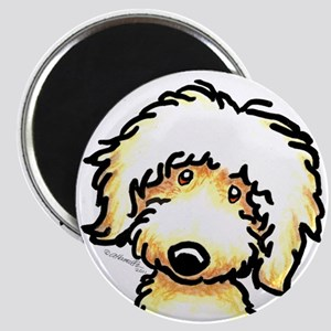 Yellow Labradoodle Face Magnet