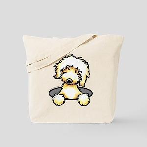 Peeking Golden Doodle Tote Bag