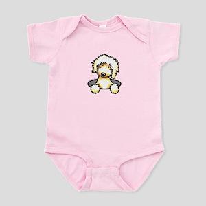 Peeking Golden Doodle Infant Bodysuit