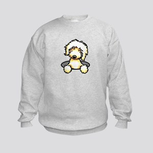Peeking Golden Doodle Kids Sweatshirt