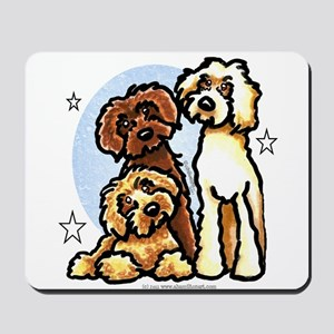 3 Labradoodle Dog Night Mousepad