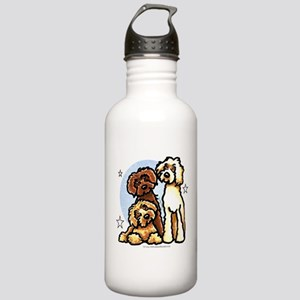 3 Labradoodle Dog Night Stainless Water Bottle 1.0