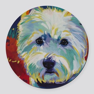 Cairn Terrier - Buddy Round Car Magnet