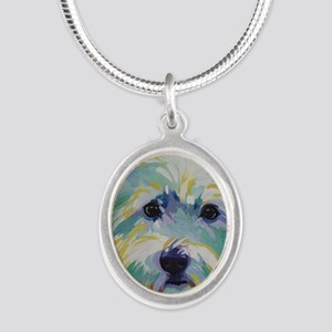 Cairn Terrier - Buddy Silver Oval Necklace