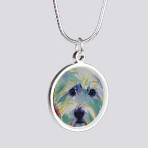 Cairn Terrier - Buddy Silver Round Necklace
