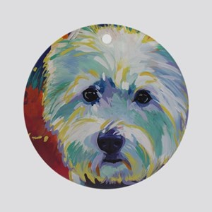 Cairn Terrier - Buddy Round Ornament