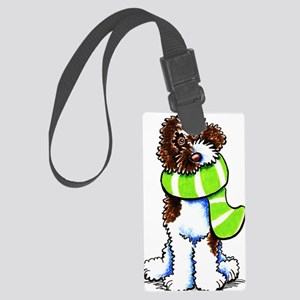 Labradoodle Scarf Large Luggage Tag