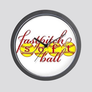 fastpitch softball original fashion Wall Clock