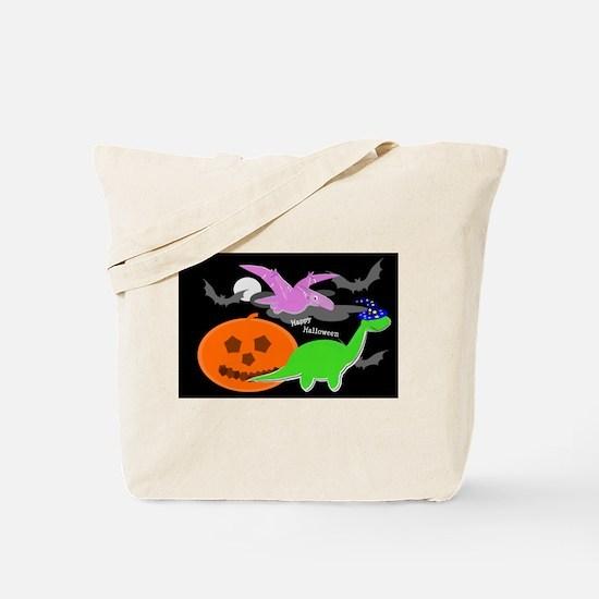 Cute Halloween Dinosaurs Tote Bag