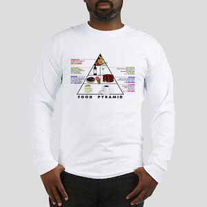 Food Pyramid Long Sleeve T-Shirt