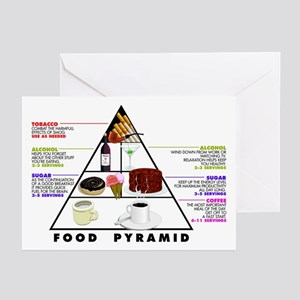 Food Pyramid Greeting Cards (Pk of 10)