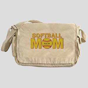 Personalized Softball Mom Messenger Bag