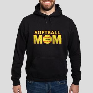 Personalized Softball Mom Hoodie