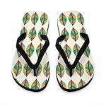 Native Leaves Flip Flops
