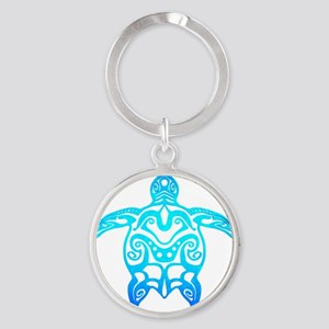 Ocean Blue Tribal Turtle Keychains