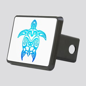 Ocean Blue Tribal Turtle Hitch Cover