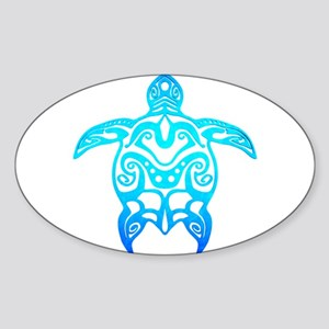 Ocean Blue Tribal Turtle Sticker