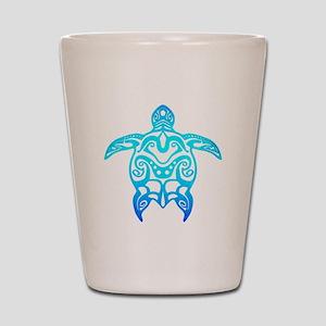 Ocean Blue Tribal Turtle Shot Glass
